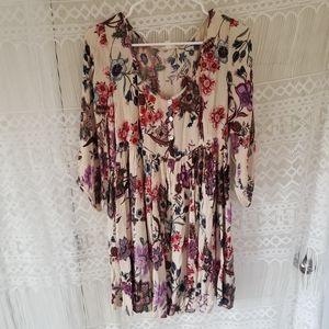 Altar'd State Floral Babydoll Pesent Dress NWT